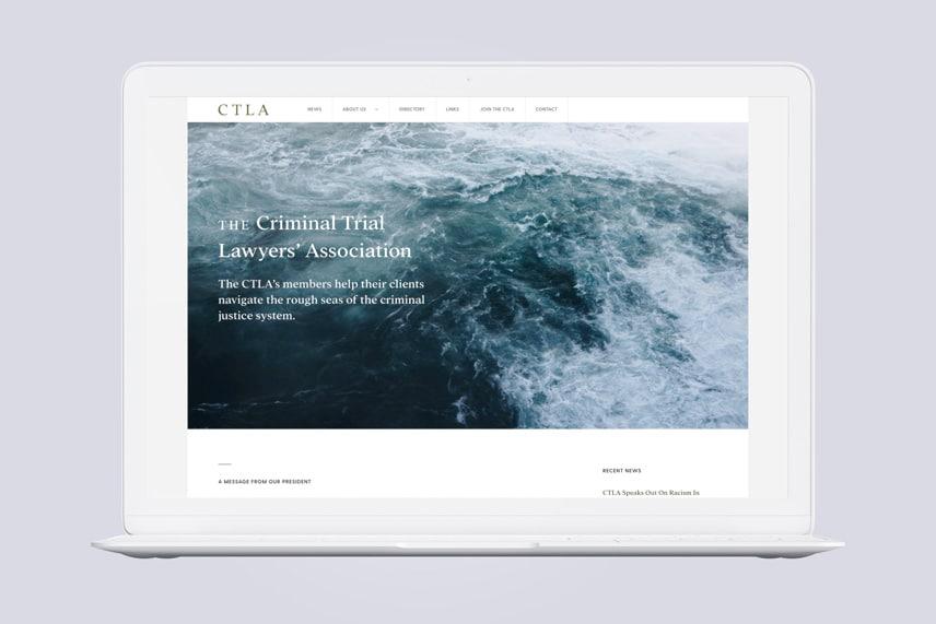 CTLA Website on a laptop