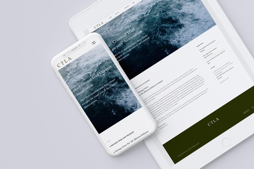 CTLA Website on a smartphone and tablet
