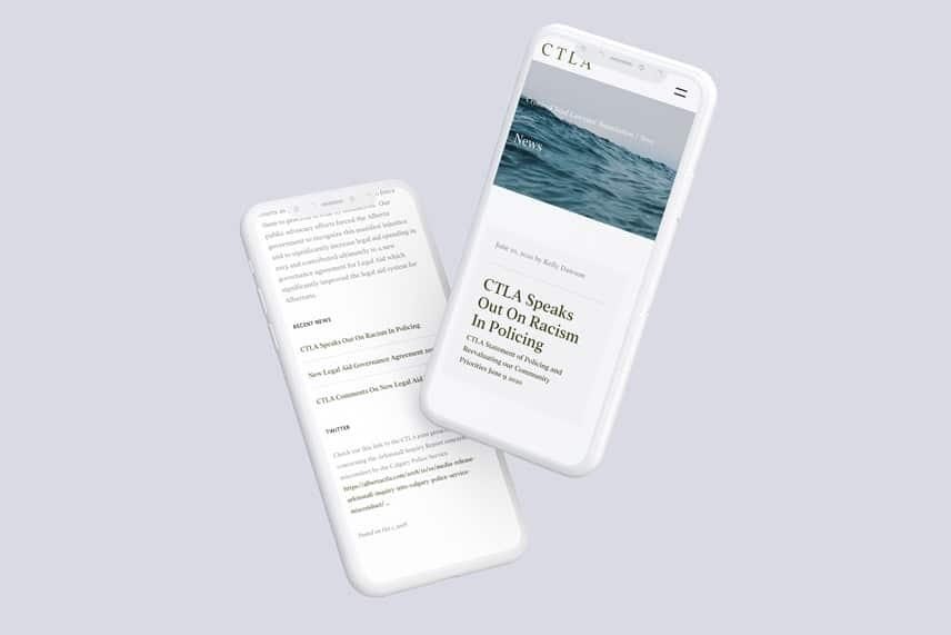 CTLA Website on smartphones