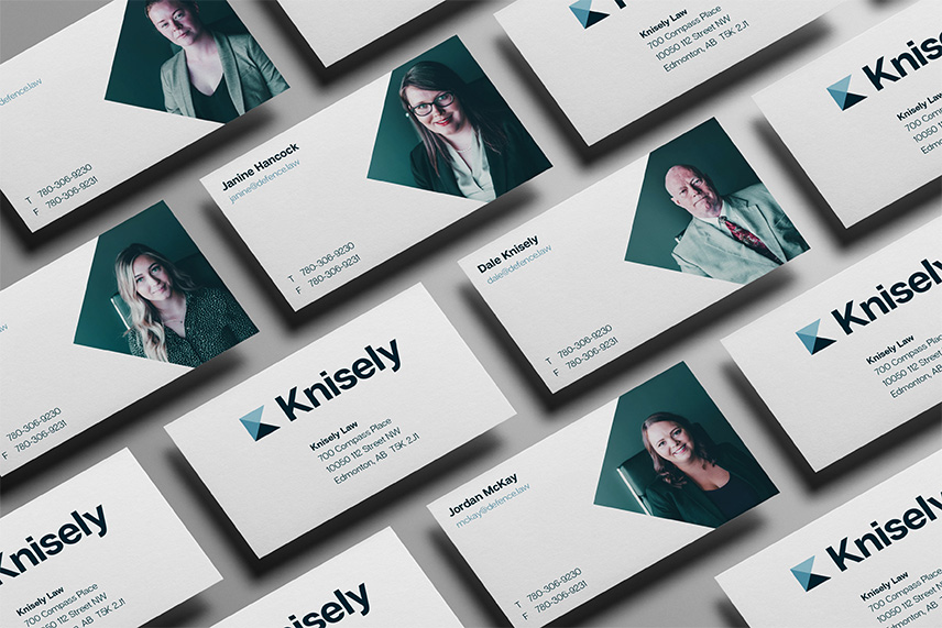 Knisely Law business cards