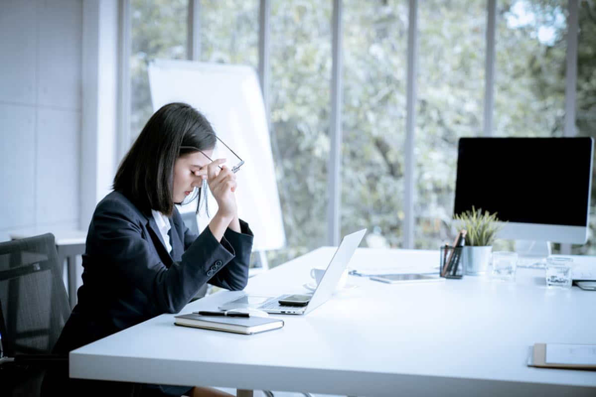Lawyer looking frustrated by law firm marketing